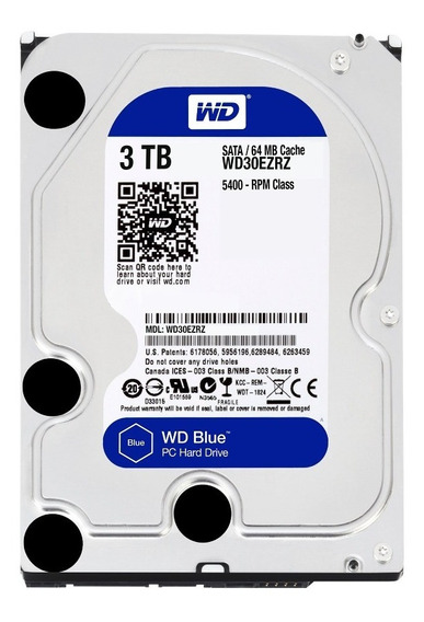 Disco Rigido 3tb Wd Sata 3 Blue