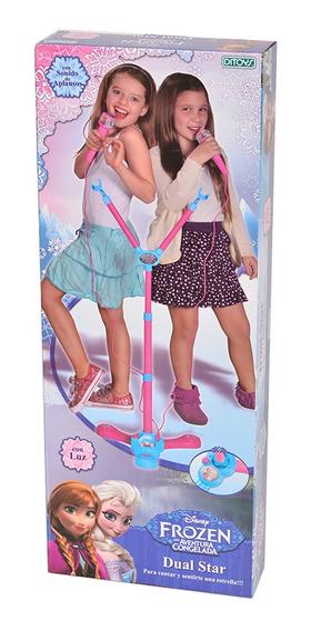 Frozen Micrófono Doble De Pie Ditoys Full