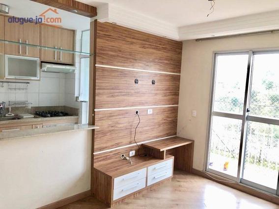 Lindo Apartamento Com 2 Dormitórios Para Alugar, 50 M² Por R$ 1.650/mês - Parque Residencial Flamboyant - São José Dos Campos/sp - Ap7188