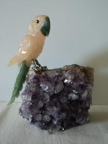 Pedras:passaro:base Ametista:decoração:hstern:original#1
