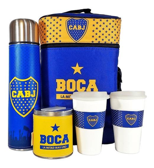 Equipo De Cafe Te Boca Juniors Set Cuero Completo Cafetero
