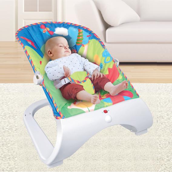 Cadeira De Descanso Vibratória Musical Maxi Baby Azul
