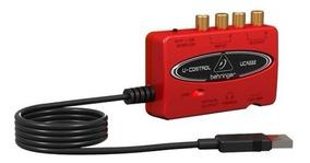 Interface Áudio Behringer U-control Uca222 Placa De Som