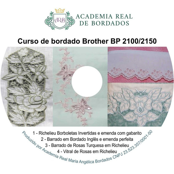 Curso De Bordado Brother Bp 2100/2150 Midia Fisica Dvd