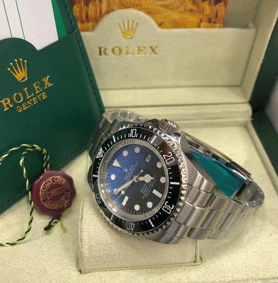 Relógio Masculino Rolex Deepsea Vidro Em Safira 100%