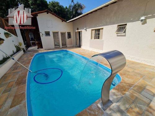Imagem 1 de 19 de Linda Chácara Com Escritura, 3 Dormitórios, Piscina, Pomar, Acesso Asfaltado,  À Venda, 750 M² Por R$ 630.000 - Rural - Monte Alegre Do Sul/sp - Ch0987