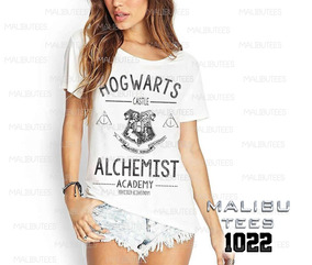 Camiseta Tshirts Hogwarts Alchemist Academy Fashion Ref 1022