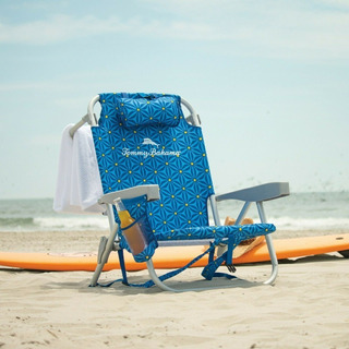Silla De Playa Tipo Mochila Tommy Bahama Azul