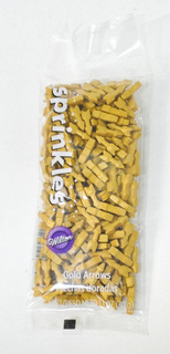 Wilton Sprinkles Flechas Doradas 30gr Confites Flechas