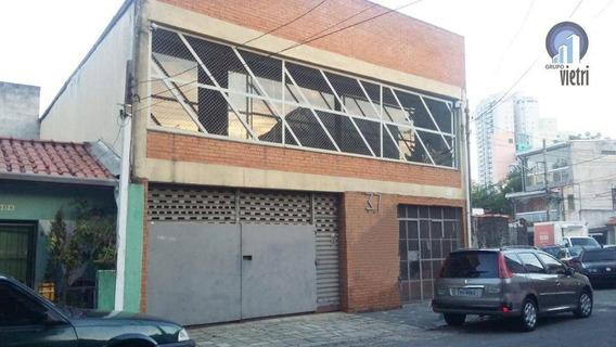 Galpão Para Alugar, 400 M² Por R$ 8.000,00/mês - Chácara Inglesa - São Paulo/sp - Ga0278