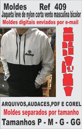 Moldes De Jaqueta Leve Corta Vento De Nylon Masculina Bicolo