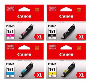 Combo Cartucho Canon 151xl Negro + Color Pixma Ip7210 Ix6810