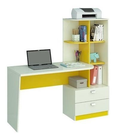 Escrivaninha/mesa Para Computador Com 2 Gavetas Elisa Branco