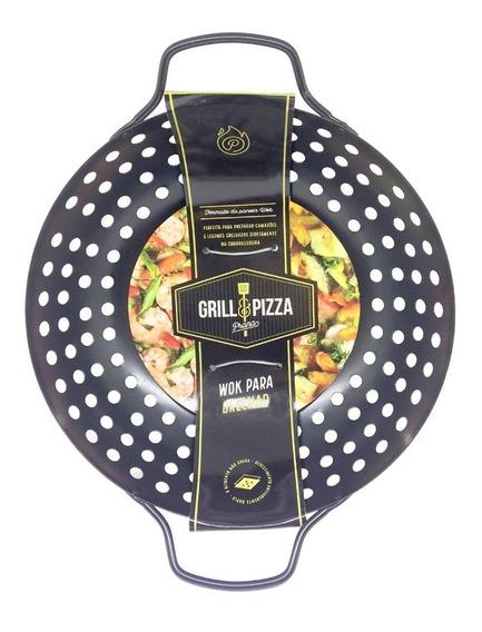 Panela Wok Para Grill Churrasqueira Perto Do Fogo Chef Prana