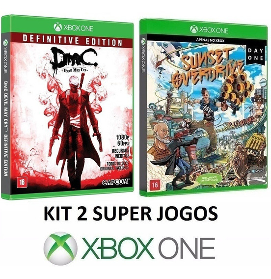 Dmc Devil May Cry + Sunset Overdrive - Midia Fisica Xbox One