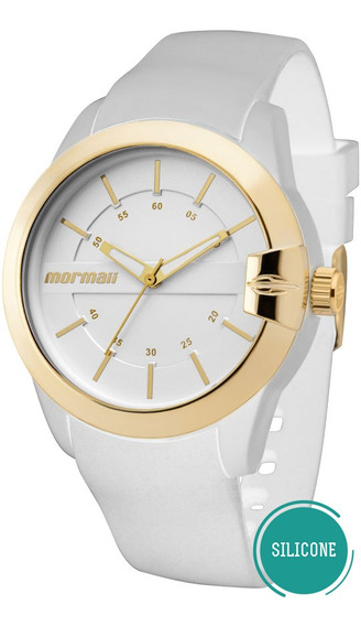 Relógio Branco Feminino Mormaii Mopc21jag/8b Original Barato