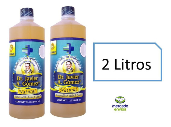 2 Litros Tintura De Hierbas Alecos Dr Javier A Gómez