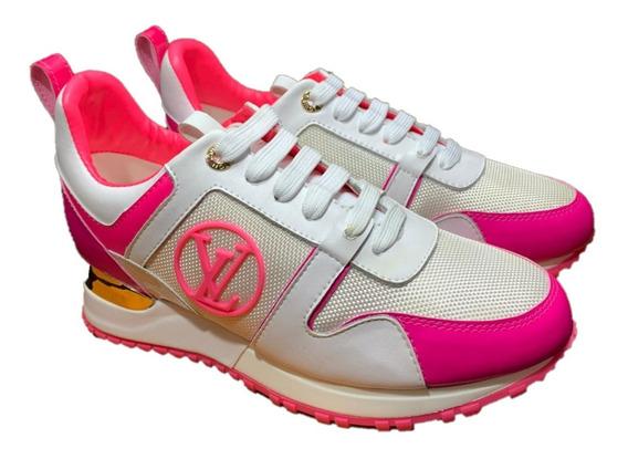 Tenis Louis Vuitton Rosa Eléctrico Dama, Envío Gratis
