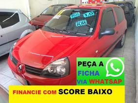Renault Clio Flex Com Direção Financiamento Com Score Baixo