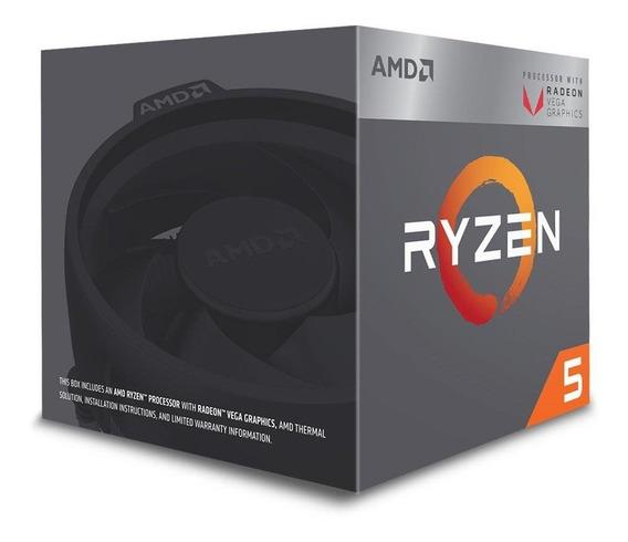 Processador Amd Ryzen 5 2400g Quatro Núcleos Cache 6mb 3.6gh