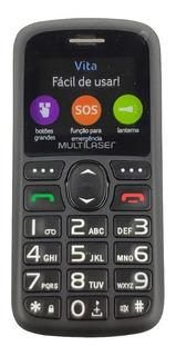 Celular Rural Para Idoso Multilaser Vita 3g P9091 Dual Chip