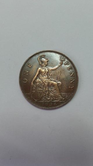 Moneda 1 Penny Reino Unido 1936