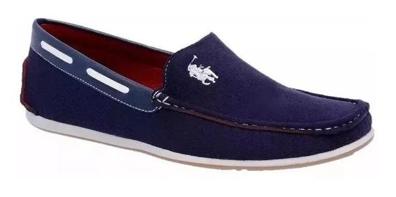 Sapato Mocassim Masculino Dockside Camurça Jeans - Envio Já