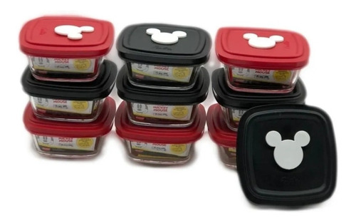 Pote Vidro Marinex Facilita Disney Mickey 300ml Kit 10 Unids