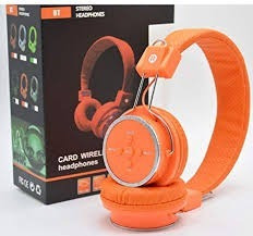 Fone Bluetooth Laranja Com Entrada Micro Sd 12x S/ Juros