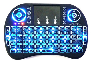 Teclado Mini Wireless Para Smart Tv Control Remoto Con Luz