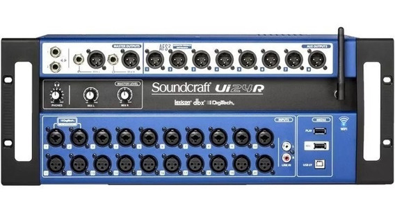 Mesa De Som Digital Soundcraft Ui24r Multipista Ui24 Oferta