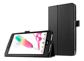 Funda Estuche Eco Cuero Para Tablet Lg Pad F 8.0 Color Negro