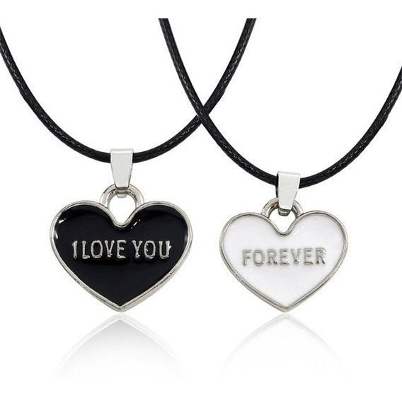 Colar Dia Dos Namorados - Coração Amor Presente Love Namoro
