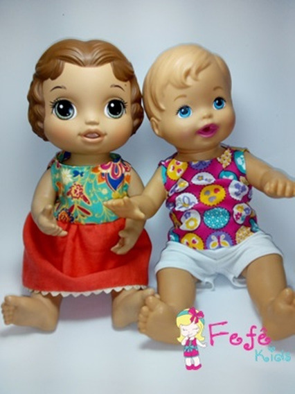 Kit 10 Roupinhas Baby Alive / Little Mommy