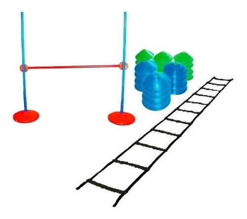 Imagen 1 de 4 de Kit Entrenamiento Escalera Cono Valla Coordinacion Funcional