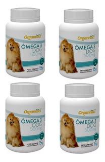 Kit 4 Omega 3 Dog 500 Mg Organnact 15 G Suplemento Vitamini