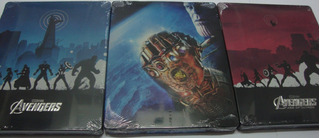 Blu-ray Steelbook Trilogia Vingadores - 3 Filmes Originais