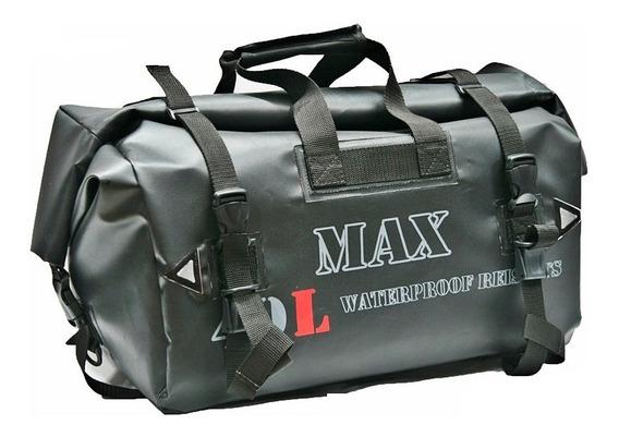 Bolsa Traseira Moto Impermeável 40 Litros Soft Bag Viagem