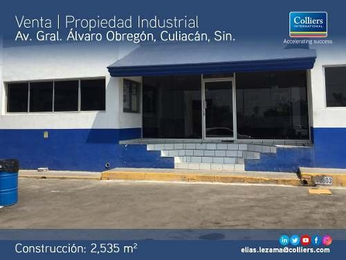 Propiedad Industrial Disponible Para Venta, Culiacán, Sin.