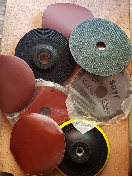 Kit 4 Discos Diferentes Corts + Suporte Velcro + 3 Lixas 600
