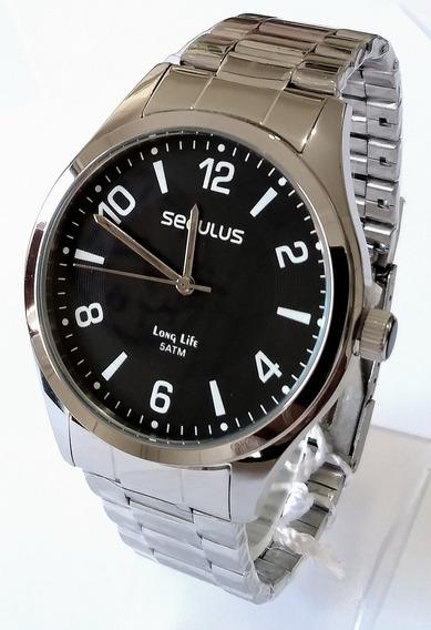 Relógio Masculino Séculus Canivete Gratis Ref28884gosvna1.