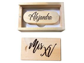 e559edf5e Memoria Usb 32gb Caja De Madera Regalo Grabado Personalizado