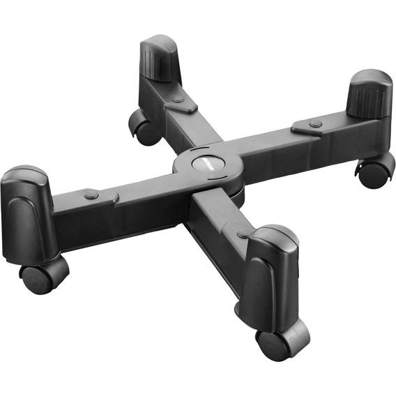 Suporte Para Cpu Ajustável Preto Com Rodas - Multilaser