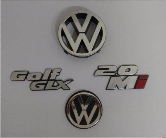 Kit Emblemas Golf + Glx + 2.0 + Mi + Vw Dianteiro Trazeiro