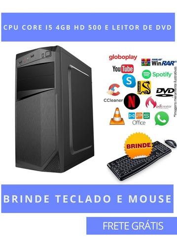 Imagem 1 de 2 de Computador Desktop Cpu Pc I5 4gb Hd 500 Windows 10 Pró Star