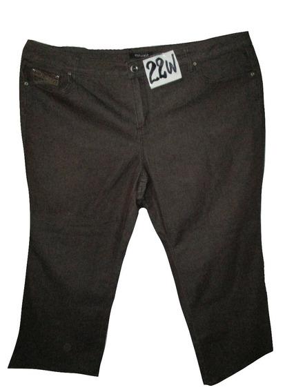 Pantalon Jeans Cafe Talla 22w (42mex) Petite Rozz & Ali