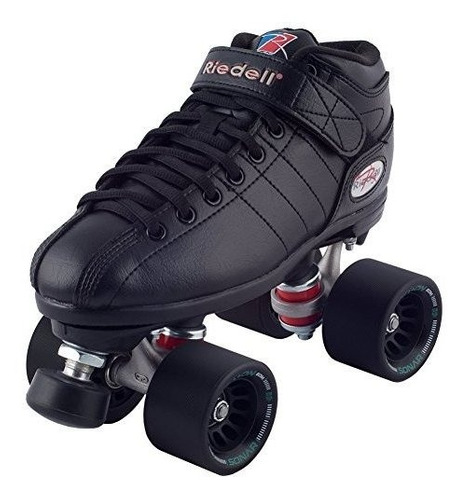 Patines Riedell Black R3 Demon Edm Roller Derby Speed Rrw /