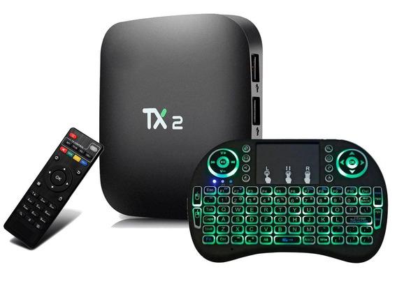 Smart Web Tv Tx2 4k 16gb Original Smart + Mini Teclado Led