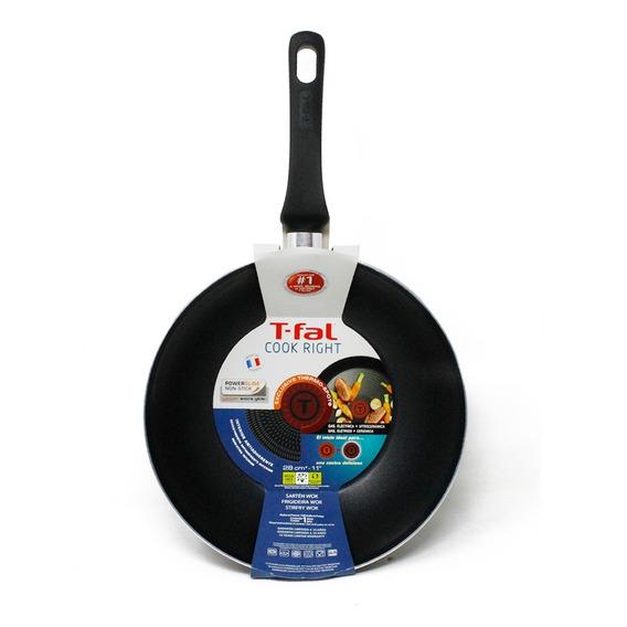 Sartén Tipo Wok 28cm Antiadherente Cook Right T-fal B3511982