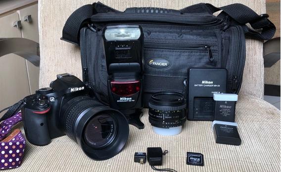Câmera Nikon D5200 (usada) + Kit Profissional Completo